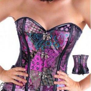 Burlesque-Boutique Women's Beauty Fantasy Brocade Corset