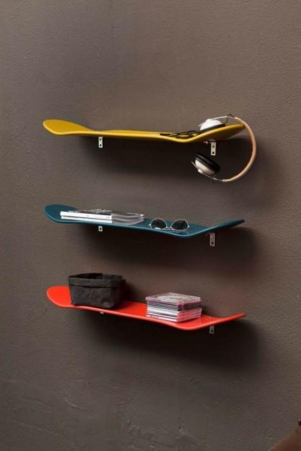 * Reutiliza las patinetas viejas de tus hijos y dale un toque especial a sus cuartos.