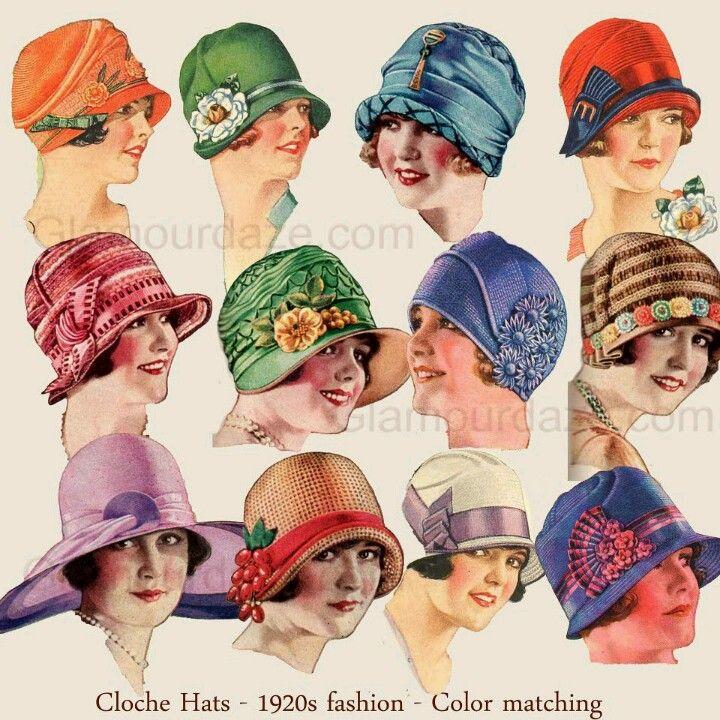 1920's cloche hats very stylish....