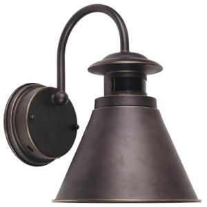 Hampton Bay 180 Degree Oil Rubbed Bronze Motion Sensing Outdoor Wall Lantern