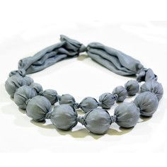 Silk Necklace Gray, $45, now featured on Fab.