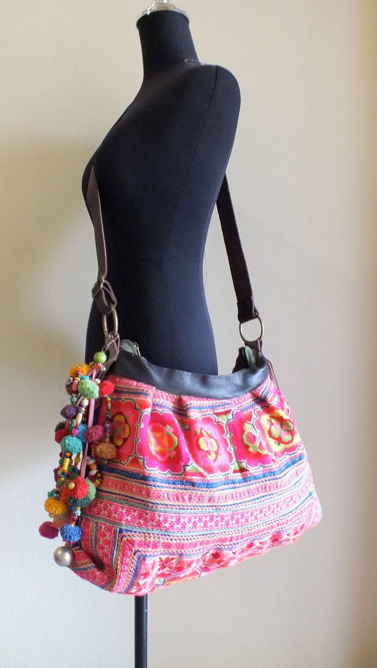 Hmong Ethnic handmade bag vintage fabric handbags and purses-from thailand. $84.99, via Etsy.