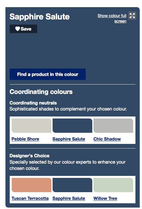 Sapphire Salute from Dulux