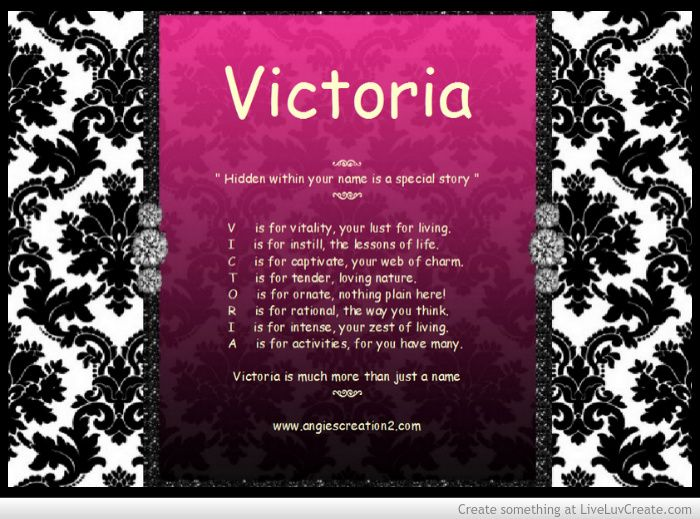 The hidden meaning of the name - Victoria   Angies ...