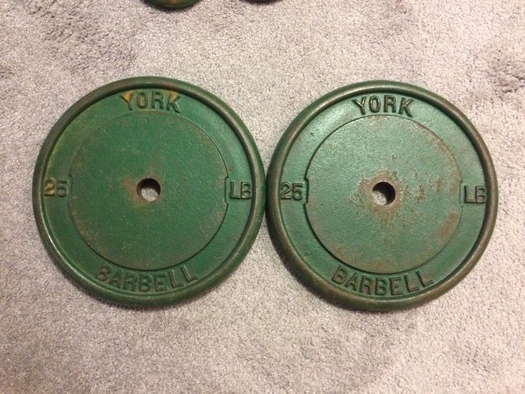 2-Vintage 25 lbs. York Barbell weight plates | eBay