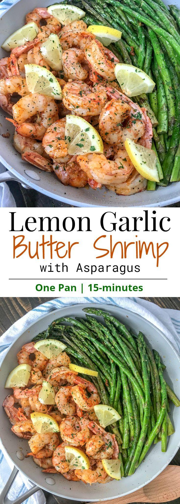 Zitronen-Knoblauch-Butter-Shrimps mit Spargel – dies ist eine einfache, leichte und …   – Amazing Low-Carb Meals