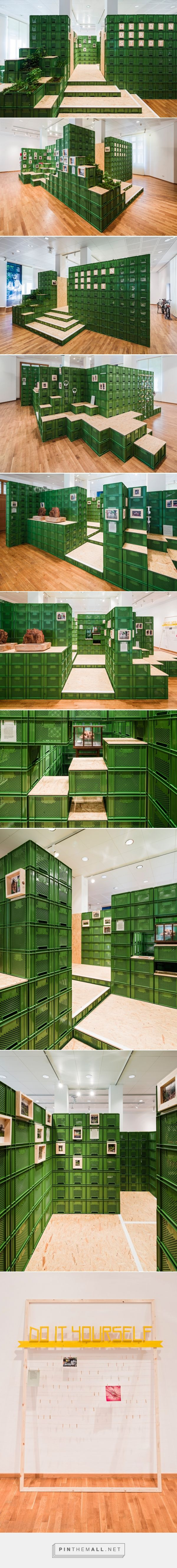 yalla yalla! stacks vegetable crates for exhibition in germany - created via…