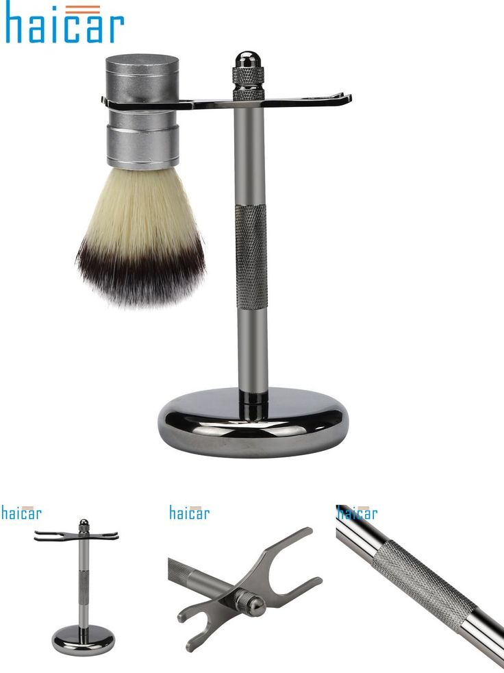 [Visit to Buy] 1pc Removable Shaving Stand Razor Brush Holder Stainless Steel Weighted Base New Arrival D26 Poseedor #Advertisement