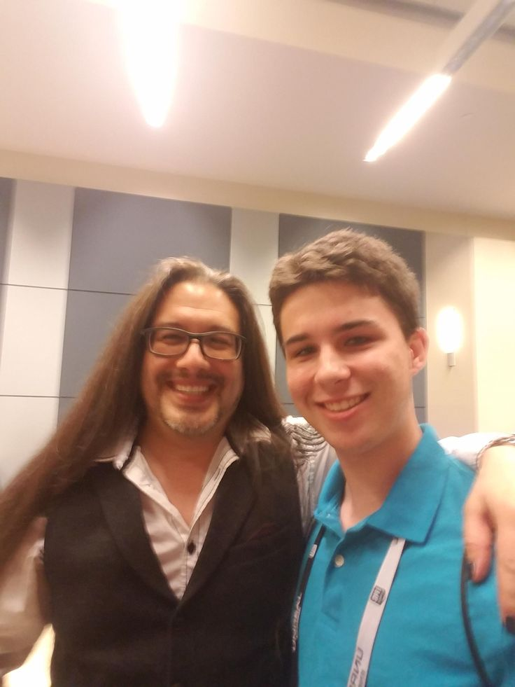 John Romero let me take a selfie with him after we played DOOM together at the East Coast Game Conference!