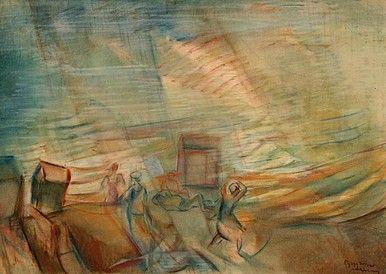 Egry József Vihar a Balatonon című képe