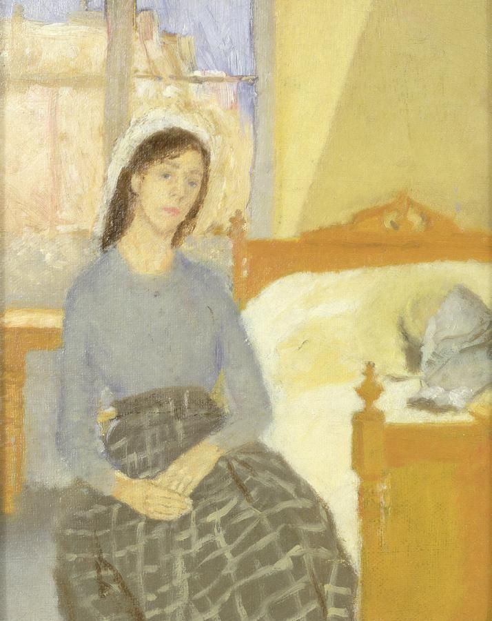 Gwen John. Soft oval face and thin body - just like a medieval saint.