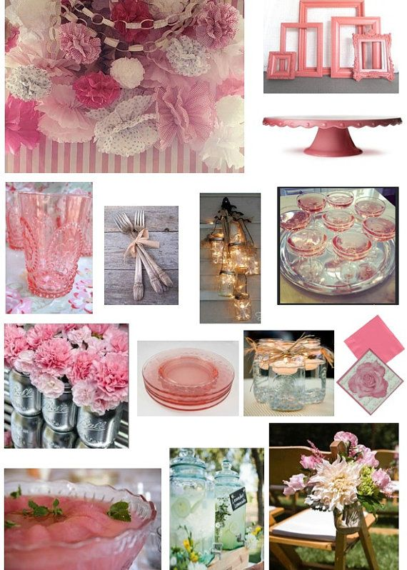 Party Mood Board by HomeAndPartyStylist on Etsy, £70.00