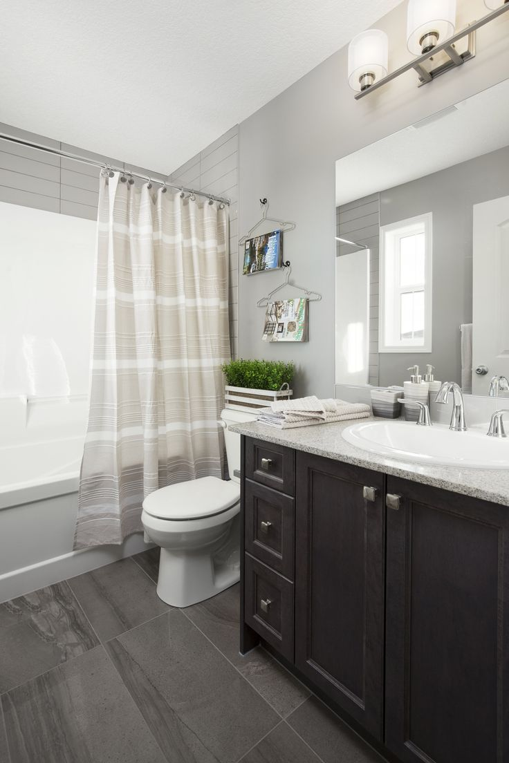 Main bath in Shane Homes Tofino II Showhome in Redstone in northeast Calgary #bathroom #bath