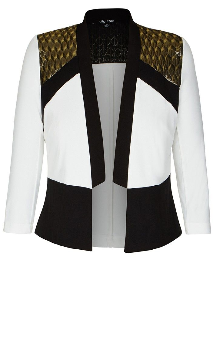 Plus Size Sports Luxe Jacket - City Chic