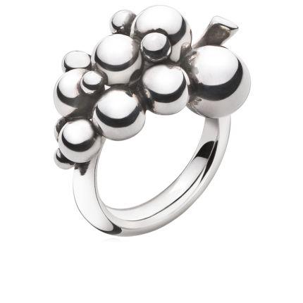 MOONLIGHT GRAPES ring - sterling sølv, lille