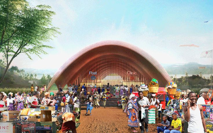 norman foster and partners droneport project rwanda africa designboom