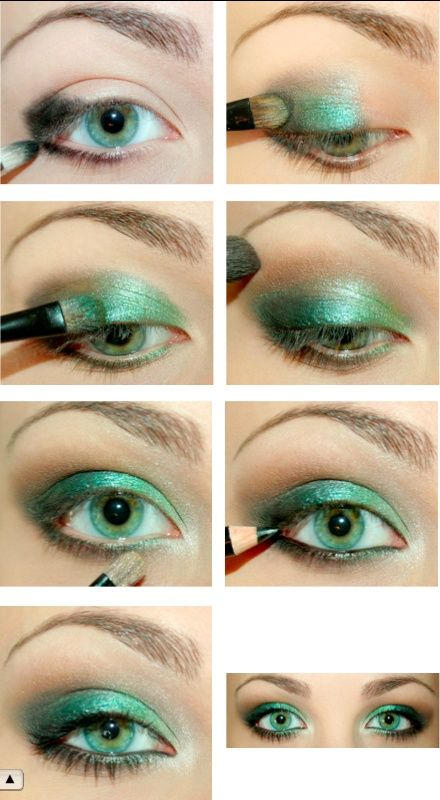Ombretto verde per make up occhi verdi