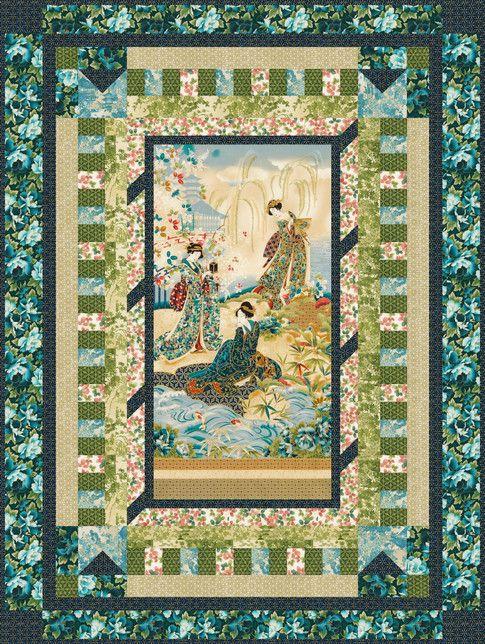 Large Fabric Panels : Best panel quilts images on pinterest quilt blocks