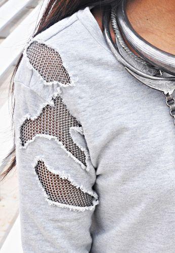 Balmain deconstructed knitwear