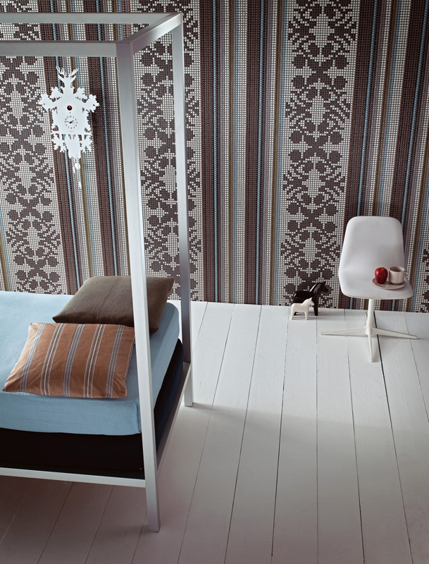 Glass #Mosaic WALLPAPER By BISAZZA Mosaico | #design Marcel Wanders #bedroom