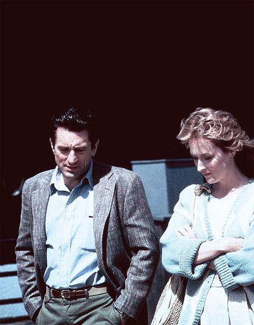 Robert De Niro and Meryl Streep on the set of Falling In Love