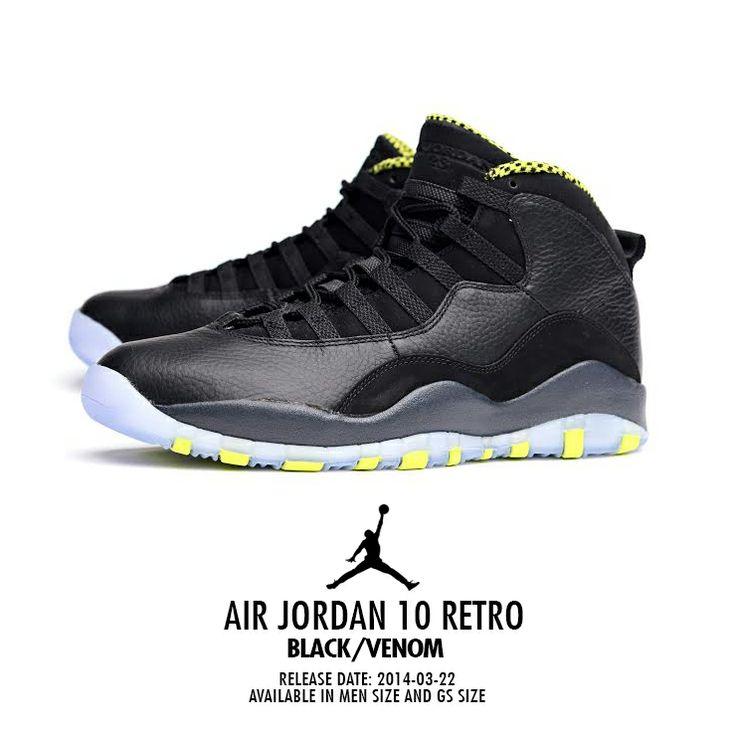 Air Jordan 10 Retro: Black/Venom