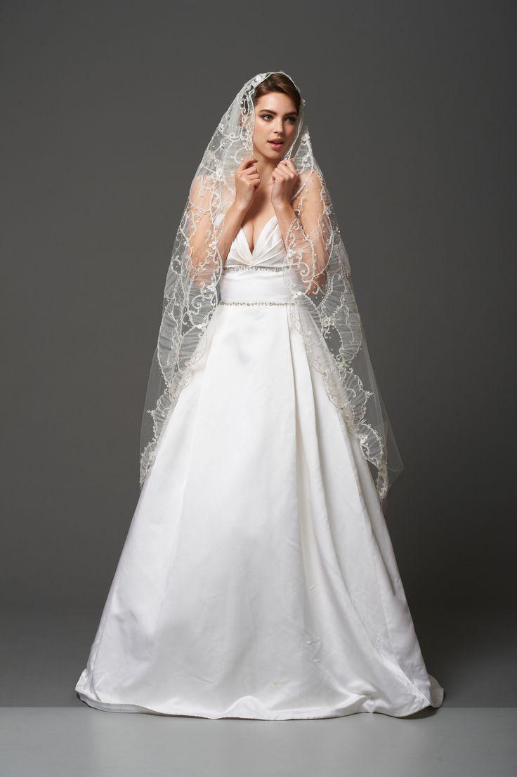 84 best veils images on pinterest wedding veils bridal for Kleinfeld wedding dress designers