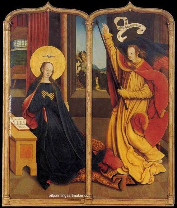 Bernhard Strigel The Annunciation, 1515-1520 painting gallery, painting Authorized official website