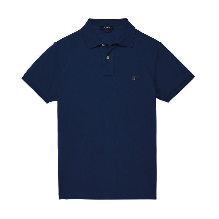 Gant Polo GANT SOLID Indigo-Blue T-Shirt - 5 #GantPolo