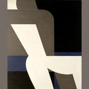 Yianniss Moralis, Erotic signed, inscribed in Greek and dated '1977' (lower right); signed and dated 'Yannis MORALIS/Athenes-Grece/1977' (on the reverse) acrylic on canvas 147 x 124 cm.