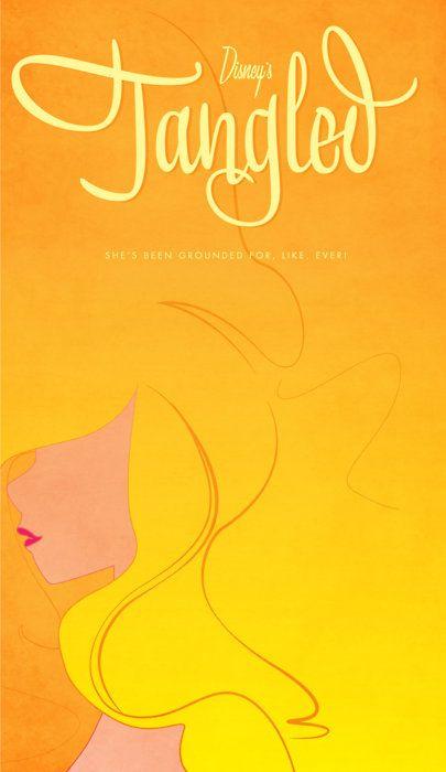 tangled minimalist movie poster