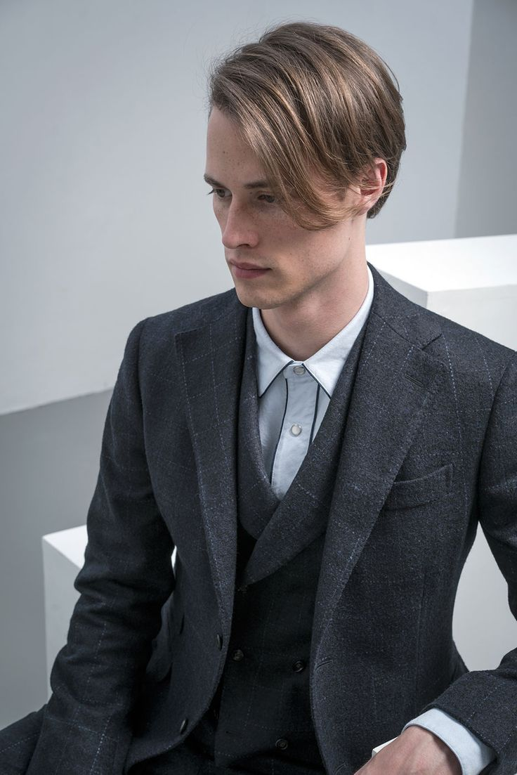 """""""Always remember that rules are made to be broken: true elegance goes beyond them"""" The #Klimt 3 pieces suit is in precious alpaca and wool tone on tone #overcheck. The #Polaris shirt is in pure cotton with contrast #piping. #THEGIGI #PierluigiBoglioli #menswear #mensstyle #mensfashion #dontlookback"""