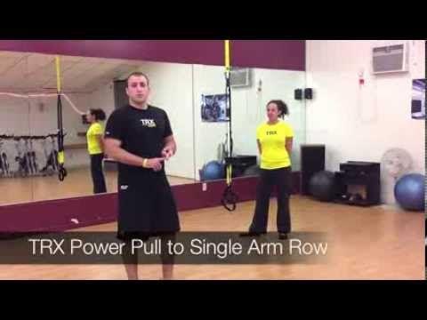 TRX Power Pull to Single Arm Row