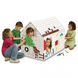 23 best Cardboard Playhouse to Color images on Pinterest | Cardboard ...