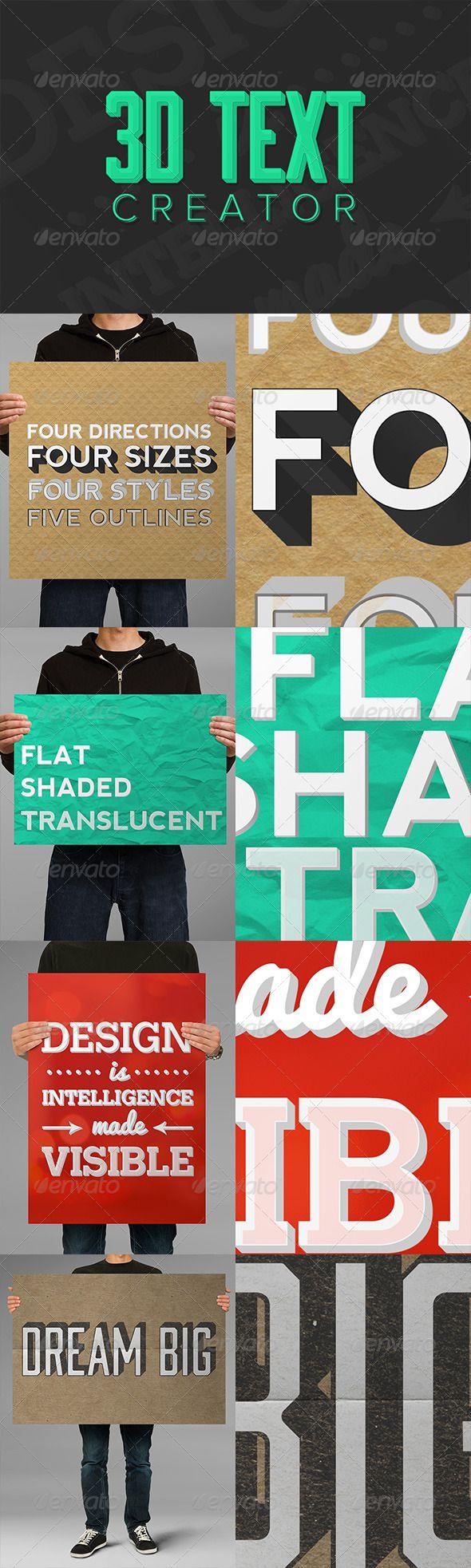 Poster design generator - 3d Text Creator
