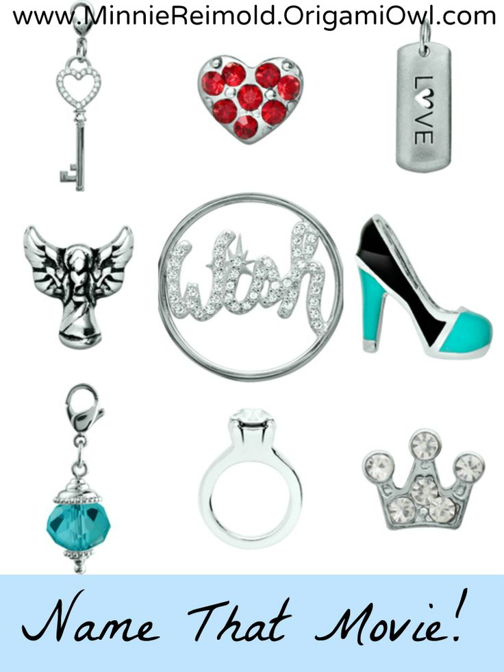 Origami Owl Name That Movie! game. Answer: Cinderella  MaryPieperLockets.origamiowl.com Facebook.com/WearingMyStory