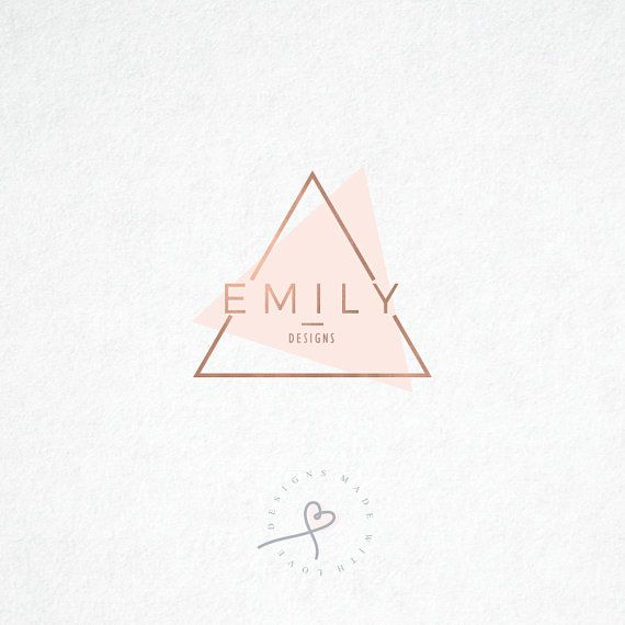 Triangle Logo. Photography Logo. Premade by MadeWithLoveByNaja