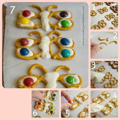 """Pretzel butterflies -- cute idea for the end of the year when kids are about to """"fly"""" away"""
