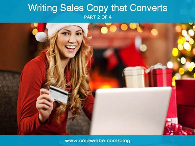 """Writing Sales Copy That Converts (Part 2). Brilliant sales copy is all about """"them."""" That's right, the customer. How are you improving the quality of their lives?"""