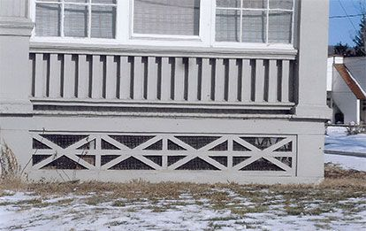 porch skirting  | PORCH SKIRTING: why not break free from the standard lattice or ...