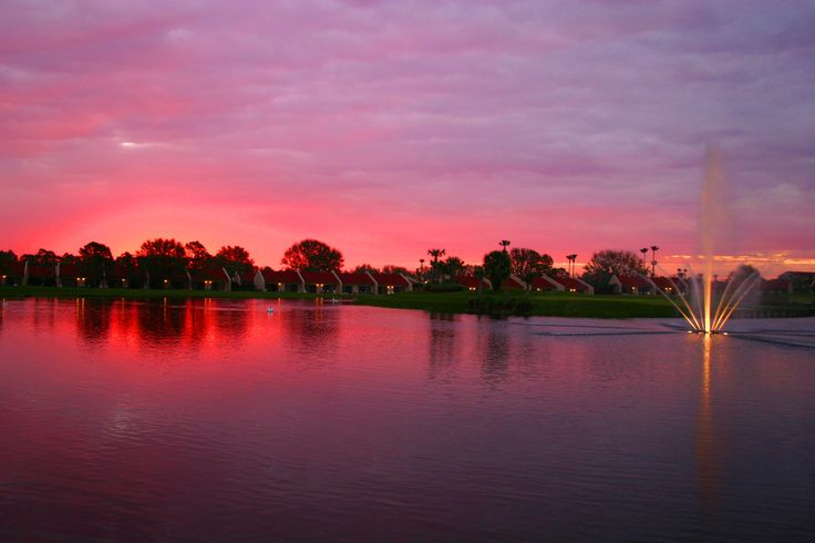 Watch the sunset on a day of fun with the fam at Holiday Inn Club Vacations - Orange Lake Resort, #Orlando #Florida