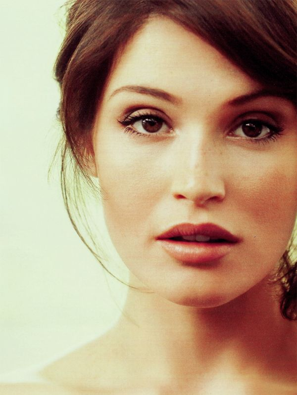 I think Gemma Arterton is absolutely lovely. Her style and beauty is so classic and natural. Lots of freckles (: -JL