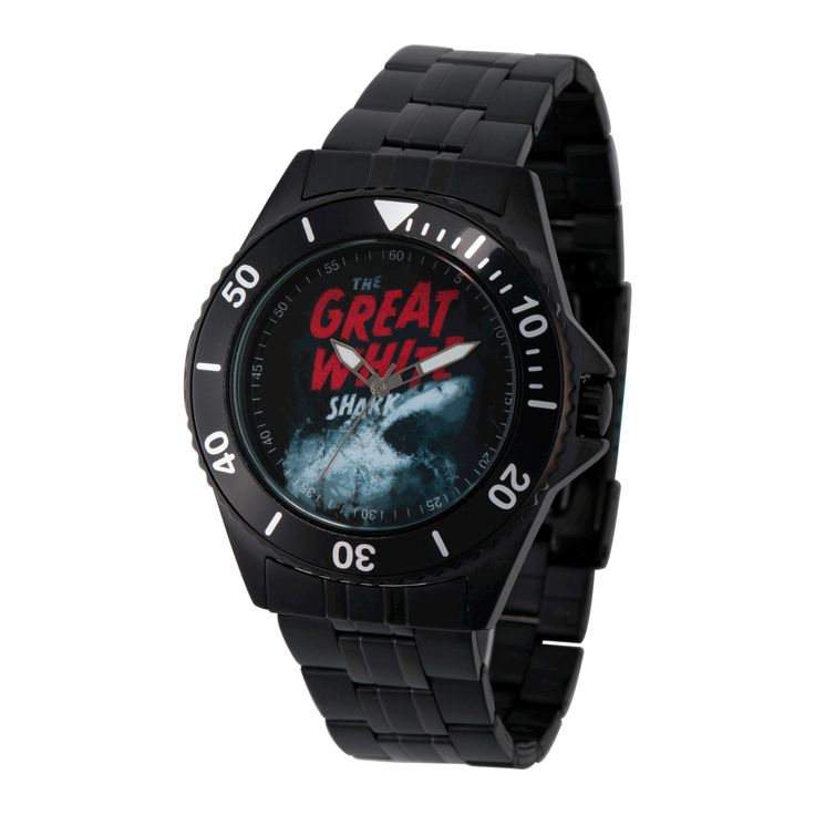 Men's Discovery Channel Shark Week Honor Black Stainless Steel Watch - Black