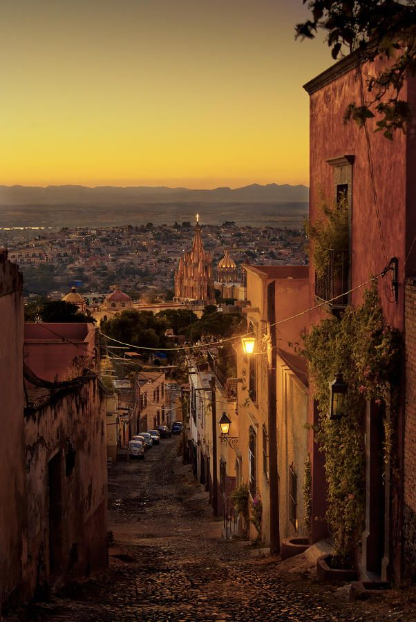 San Miguel De Allende Sunset Photograph Mexico