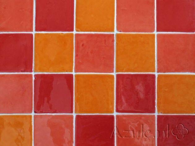 Spanish tiles - Azulejos Naranja - Project van Designtegels.nl