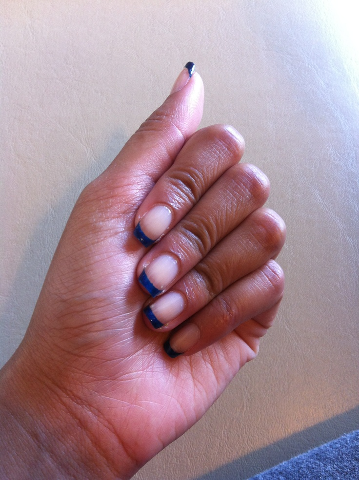 navy blue french manicure :))