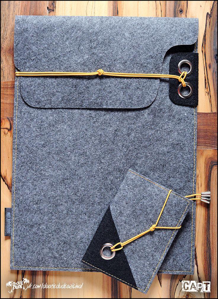 Чехол для документов или планшета и обложка для паспорта из фетра. Серия изделий…