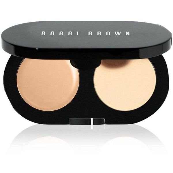 Bobbi Brown Creamy Concealer Kit ($35) found on Polyvore featuring beauty products, makeup, beauty, bobbi brown cosmetics, pressed powder makeup and dark circles makeup