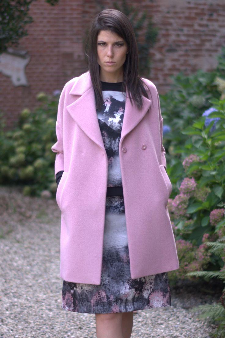#MaxMarastudio #Pink #time #coat Juglas #shopping #online gemmaboutique