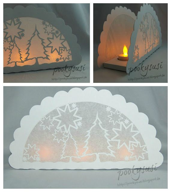 Pookysusi´s Planet: Freebie SVG DIY Exquisite tea light holder luminary with winter scene